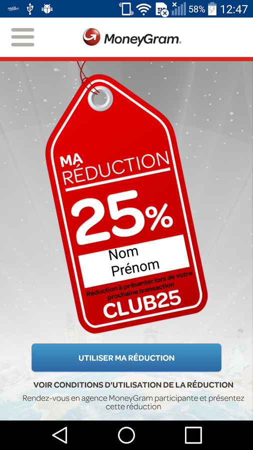 Magic Club By MoneyGram exemple ""